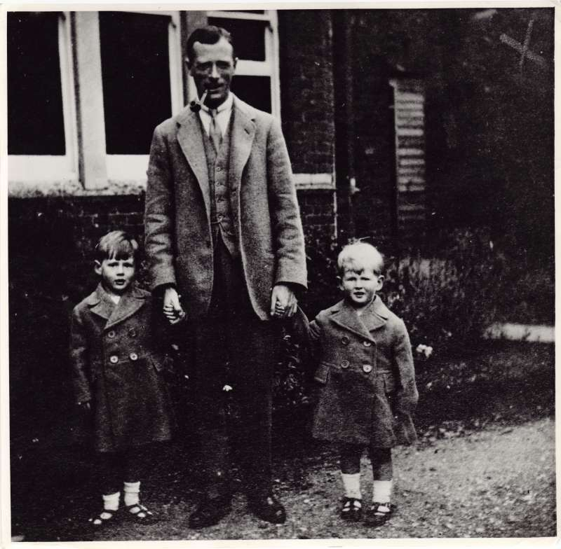 Leonard and Christopher with their father