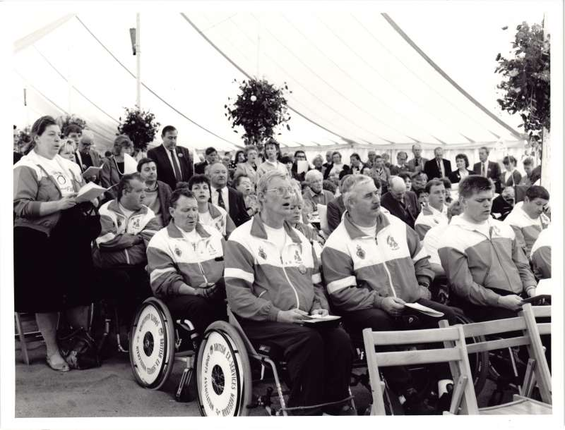 Wheelchair Sports Association in marquee