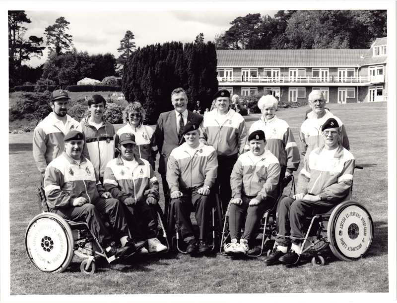 Wheelchair Sports Association group photo