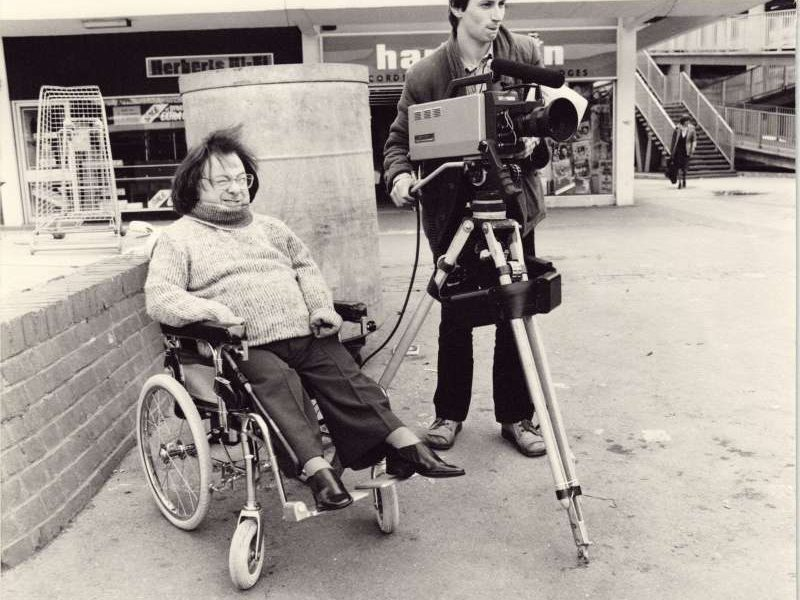 Brian Line filming on location