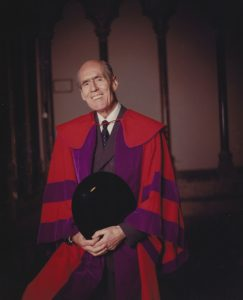 Leonard Cheshire in an academic gown